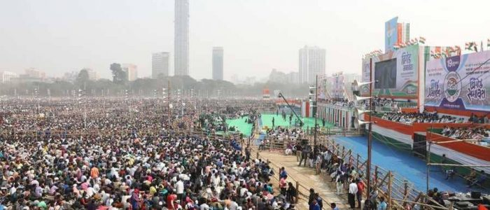 """500 ألف مشارك في تظاهرة """"لنوحّد الهند"""" ضد ناريندا مودي"""