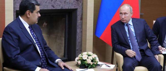 بوتين يعرب لمادورو عن دعمه للسلطات الشرعية في فنزويلا وينتقد التدخل الخارجي التخريبي