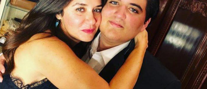 غادة عادل تظهر مع ابنها في أول أفلامه