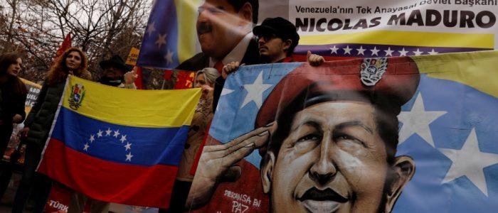 خريطة القوى السياسية المؤيدة لأطراف الصراع في فنزويلا