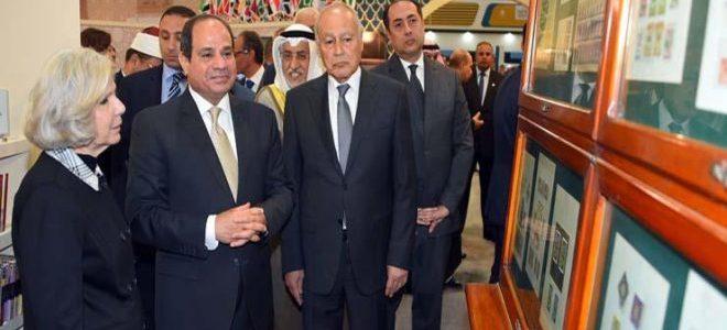 الرئيس السيسى يفتتح اليوبيل الذهبى لمعرض الكتاب