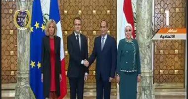 مراسم استقبال رسمية للرئيس الفرنسى إيمانويل ماكرون بقصر الاتحادية