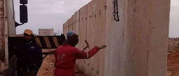 ليبيا تبدأ بناء جدار عازل على حدود مصر