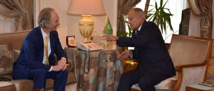 بيدرسن يبحث الملف السوري مع شكري وأبو الغيط في القاهرة