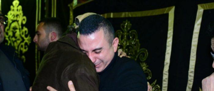 نجوم الفن في عزاء الراحل سعيد عبد الغني