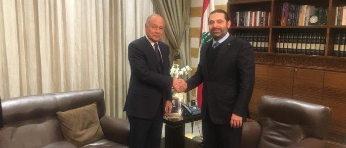 أبو الغيط يؤكد دعمه لجهود الحريري نحو تشكيل الحكومة في لبنان