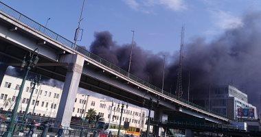 السكة الحديد توقف حركة القطارات بمحطة مصر بعد حريق فى رصيف 7
