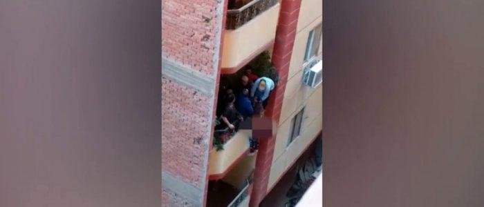 رجل يلقي زوجته من شرفة المنزل بسبب مشادة كلامية