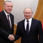 أردوغان سيبحث مع بوتين استهداف الرتل العسكري التركي بسوريا
