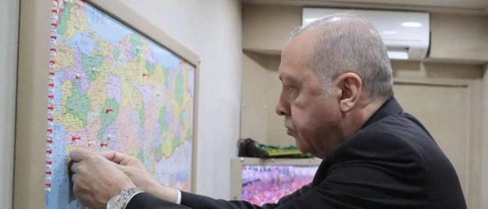 لماذا يضع أردوغان علامات على خريطة بلاده؟