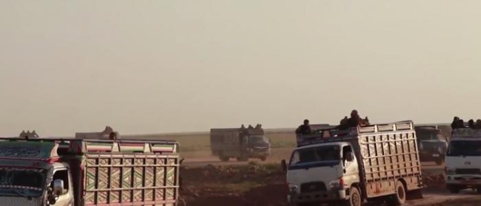 """""""قسد"""" تجلي دفعة جديدة من المدنيين وعوائل """"داعش"""" من جيبه الأخير شرقي الفرات"""