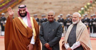 استقبال حافل لولى العهد السعودى فى القصر الرئاسى بالهند