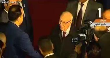 """الرئيس التونسى يصل مطار شرم الشيخ للمشاركة فى القمة """"العربية الأوروبية"""""""