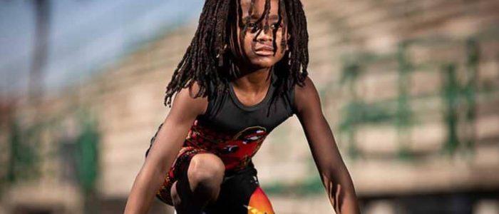 """""""البرق"""" أسرع طفل في العالم يتحدي أسرع رجل بتحطيم الأرقام القياسية"""