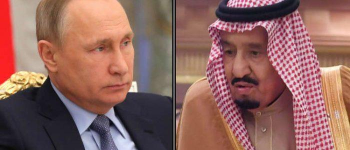 الملك سلمان وبوتين يؤكدان نيتهما تعزيز العلاقات الروسية السعودية