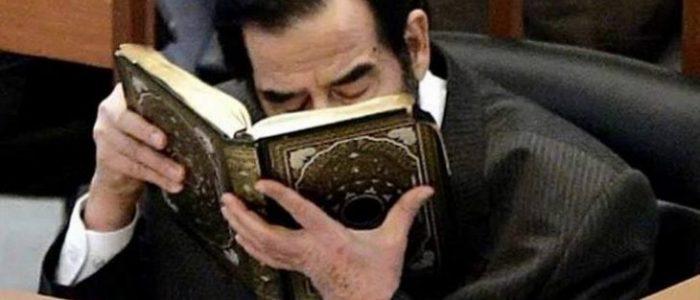 موقع أمريكي يجدد الجدل حول مصحف كُتب بدم صدام حسين