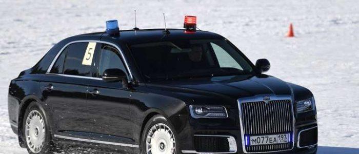 اختبار ليموزين بوتين في ظروف الثلج والصقيع