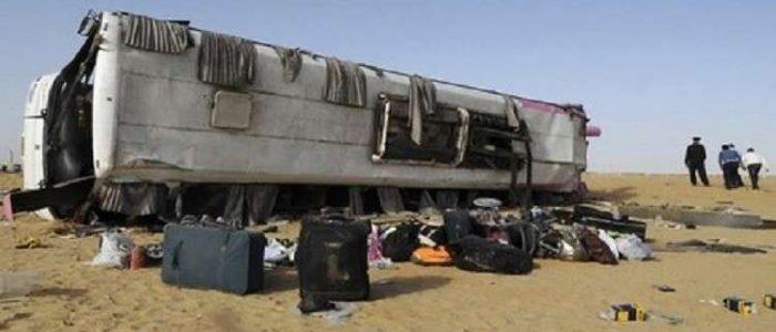 انقلاب حافلة تقل سودانيين في مصر