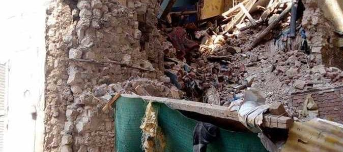 انهيار عقارين في الإسكندرية وإنقاذ 6 أشخاص