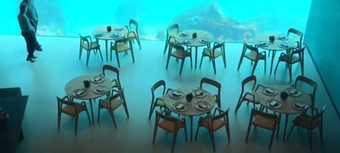 أول مطعم أوروبي تحت الماء