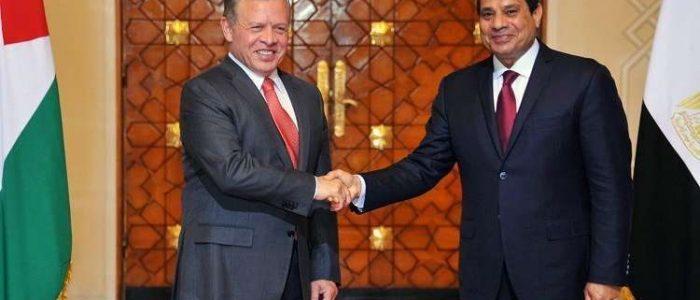 السيسي وعبد الله الثاني: يجب توحيد الصف إزاء التحديات التي تواجه الأمة العربية
