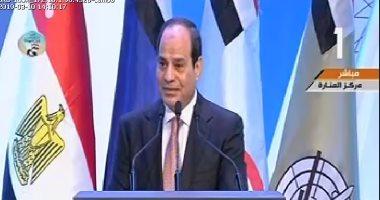 السيسى يؤكد أهمية العمل على زيادة الاستثمارات السويسرية فى مصر