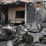 الصور الأولي لموقع سقوط صاروخ على منزل بتل أبيب