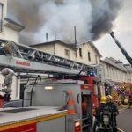 اندلاع حريق ضخم في مدينة فرساي غربي العاصمة باريس