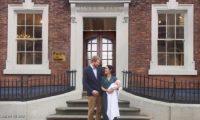 صورة كوميدية ترصد فرحة ميجان والأمير هاري بقدوم مولودهما الجديد