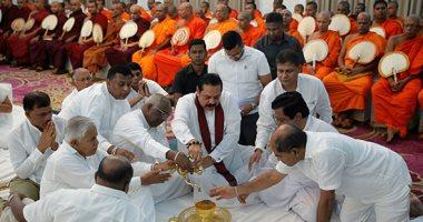 رئيس سريلانكا يشارك باحتفال بوذى تكريما لضحايا الهجمات الإرهابية