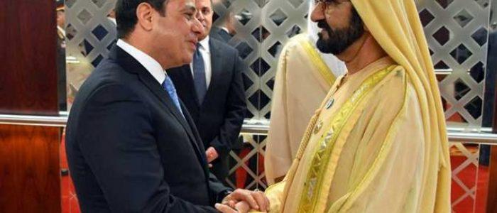 حاكم دبي يؤكد للسيسي أهمية دور مصر  في السلام والاستقرار على هامش قمة منتدى الحزام والطريق