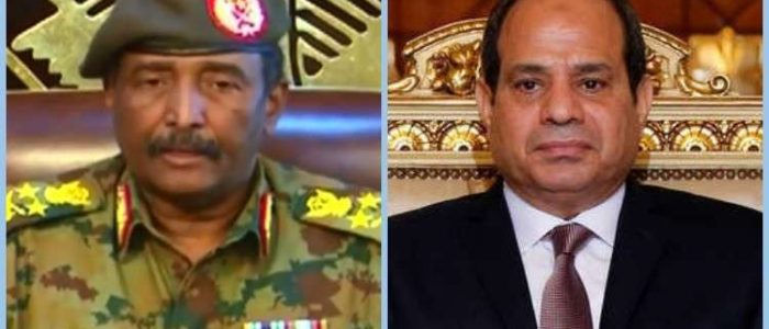 الرئيس السيسي يتصل برئيس المجلس الانتقالي العسكري في السودان