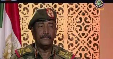 البرهان: مصر والسعودية والإمارات لديهم جهود لتحسين الوضع فى السودان
