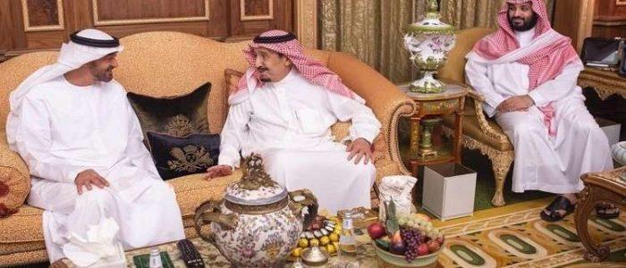 الملك سلمان يستقبل ولي عهد أبو ظبي في الرياض