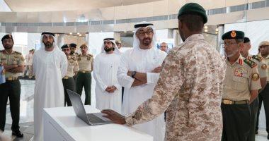محمد بن زايد يزور معرض المهارات الإلكترونية لمجندى الخدمة الوطنية