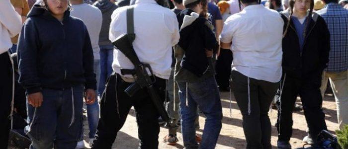 عشرات المستوطنين يقتحمون بلدة جنوب الخليل ويقيمون طقوسا تلمودية