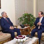 السيسي يستقبل حفتر ويجدد دعم الجيش الليبي بمكافحة الإرهاب