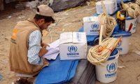 القوات اليمنية والتحالف تسهلان مرور قافلة غذائية بالدريهمي