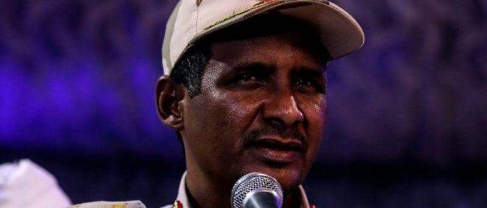 """""""حميدتى"""" يؤكد التزام المجلس العسكرى السودانى باتفاقه مع المعارضة"""