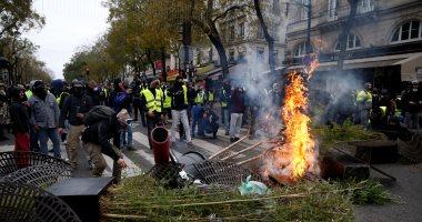 اشتباكات بين متظاهرى السترات الصفراء والشرطة فى بلجيكا