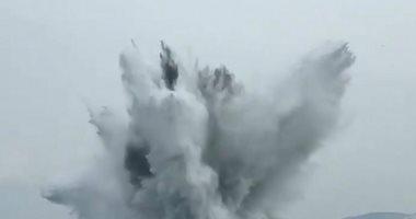 البحرية البريطانية تفجر قنبلة يعود تاريخها للحرب العالمية الثانية