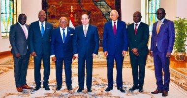 السيسي يتلقى دعوة لزيارة غانا ويؤكد أهمية تحقيق التكامل بين الدول الأفريقية