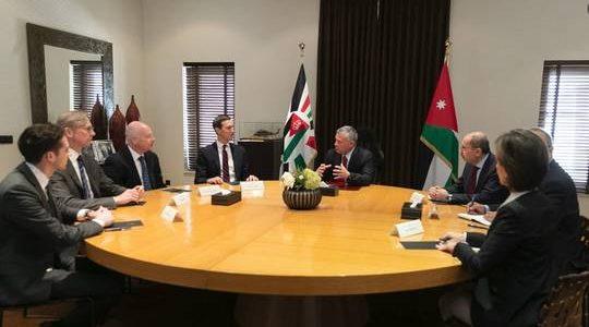 العاهل الأردني يبحث مع كوشنير الجهود المبذولة لحل الصراع الفلسطيني الإسرائيلي