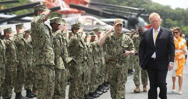 ترامب يختتم زيارته لطوكيو بزيارة أكبر سفينة حربية فى اليابان