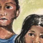 لوحة أطفال المهاجرين قبل عرضها فى مبنى الكابيتول الأمريكى