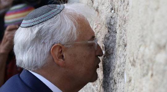 """السفير الأمريكي: من """"حق"""" إسرائيل ضم أراضي من الضفة"""