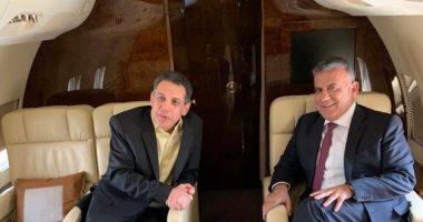 الصورة الأولى لنزار زكا المفرج عنه فى إيران مع مدير الأمن العام اللبنانى