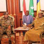 رئيس المجلس العسكري الانتقالي  السوداني يزور تشاد