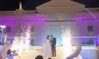 عروض عسكرية وطائرة بدون طيار فى حفل زفاف ملكة جمال لبنان