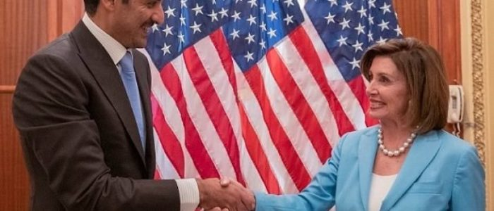 """أمير قطر يلتقي في واشنطن مديرة """"سي آي إيه"""" ورئيسة مجلس النواب وأعضاء بمجلس الشيوخ"""